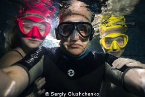 Selfies with models wearing masks. by Sergiy Glushchenko
