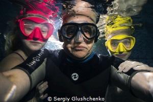 Selfies with models wearing masks. by Sergiy Glushchenko