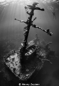 Masts as crosses, on a mass grave. by Alexey Zaytsev