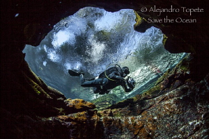 Juan Carlos and the cave, Las Estacas Mexico by Alejandro Topete