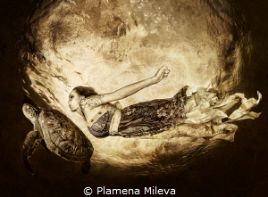 Flying around the SuperMoon by Plamena Mileva