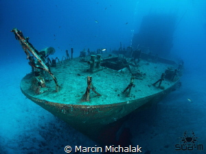 The wreck of P31 bow section Gozo by Marcin Michalak