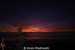 Over the garden wall, lit by phone by Arun Madisetti