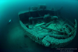 The wreck Bonita in the Baltic sea in 42m depht by Rene B. Andersen