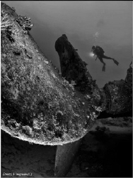 Abu Nuhas reef. Kimon-M wreck. by Dmitry Vinogradov
