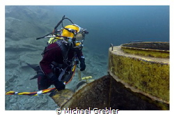Police diver on an overhead environment exercise. Canon 6... by Michael Grebler