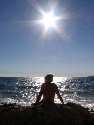 Girl, Sun and Sea by Zoran Spasovski