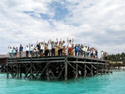 A Grand Farewell from the staff at Sipadan Water Village by Alex Lim