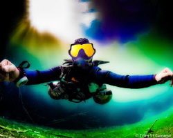A sidemount shakedown dive in Cenote Carwash, Tulum, Mexico by Tom St George