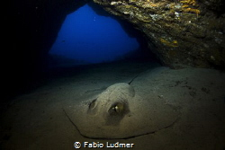 I entered this cave in Fernando de Noronha, Brazil, and f... by Fabio Ludmer