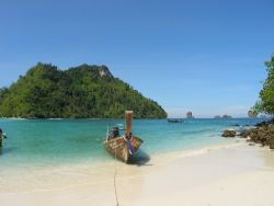 A heavenly beach on an island close to Ao Nang, Thailand by Gordana Zdjelar
