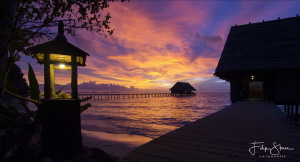 sunset at Pulau pef, Raja Ampat, Indonesia by Filip Staes