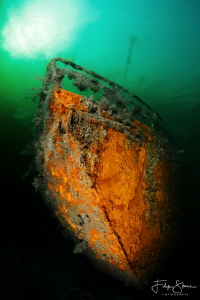 "Wreck of ""de Zeehond"", Grevelingen,Zeeland, The Netherlands by Filip Staes"