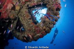 Dragon Wreck. That's a dredger ship. The image shows the ... by Eduardo Arribada