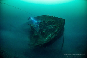 WW2 wreck Aquila taken on 50m depht by Rene B. Andersen