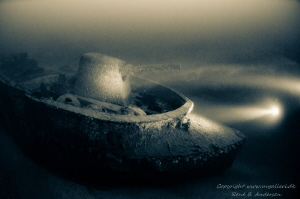 Uller WW2 Wreck in Norway, taken on 50m depth by Rene B. Andersen