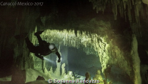 Caracol cave diving by Susanna Randazzo
