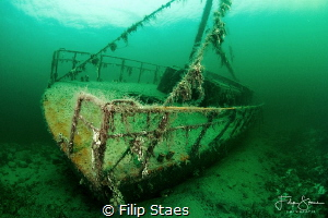"Wreck of ""de Zeehond"", Grevelingen, The Netherlands. by Filip Staes"
