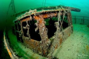 Wreck of the Zeehond, lake Grevelingen, The Netherlands. by Filip Staes