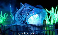 This giant light sculpture of a Port Jackson Shark which ... by Debra Cahill