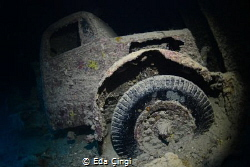 Truck in the Thistlegorm shipwreck by Eda Çıngı