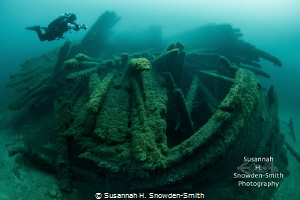 """""""Preserved By The Cold""""  A diver explores the William B... by Susannah H. Snowden-Smith"""