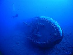 This wreck lays in front of Puerto de Mogan, a small fish... by Arthur Telle Thiemann