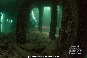 Look closely: A diver penetrates a lower deck of the Will... by Susannah H. Snowden-Smith