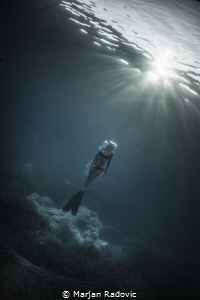 Freediving at Cres by Marjan Radovic