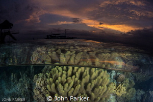 Sunset Split at Kasai Village Moalboal by John Parker