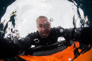 Diver Gurning! by John Parker
