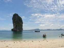 A beach on an island close to Ao Nang, Thailand. by Gordana Zdjelar