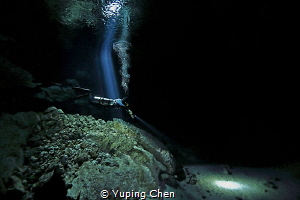 Dive Into the Light/ Cenote diving at Tajma Ha, Tulum, Me... by Yuping Chen