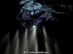 Under the jetty LIGHT SHOW by Cumhur Gedikoglu