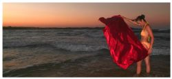 some more colours on the beach in moz. this is a panorami... by Fiona Ayerst