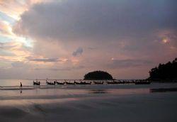 Sunset in Phuket taken with an Olympus Camedia. by Marilyn Hiatt