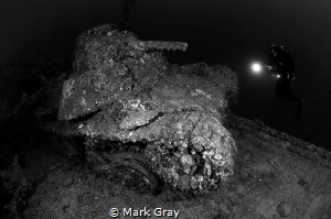 Japanese WW@ Tank with diver onboard the San Franciso Mar... by Mark Gray