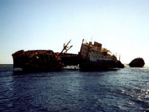 Wreck of Lullia at Tiran, Sharm el Sheikh by Riccardo Colaiori
