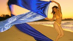 modelling with satins on the beach and near the sea- use ... by Fiona Ayerst