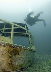 Controlled descent? Capernwray. D200, 16mm. And Benny, ... by Mark Thomas