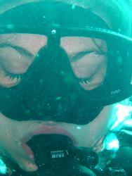 Pretty diver... by Kelly N. Saunders