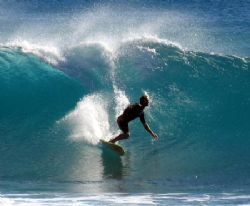 Bad viz due to big swell. At least hubby had a good surf!... by Penny Murphy