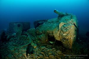 SS Empire Heritage WW2 Wreck, depht is 63meter. by Rene B. Andersen