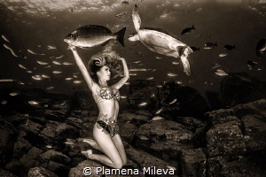 Connection with the underwater nature by Plamena Mileva