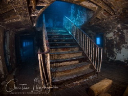 The famous staircase on the Karwela Ferry wreck in Gozo. by Christian Llewellyn