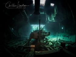 The engine room of the Wreck - Tug 2 by Christian Llewellyn