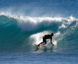 Surfing, Warroora Station - West. Oz by Penny Murphy