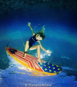 Surfing by Plamena Mileva