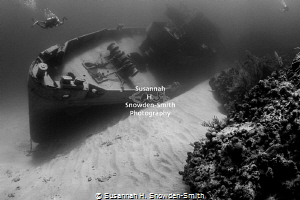 The USS Kittiwake has been rolled into the reef by in Hur... by Susannah H. Snowden-Smith