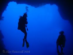 My lovely wife in the Blue Holes, Palau !! Hope this look... by Alex Tattersall